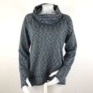 Athleta Space Dye Tranquility Cowl Neck Pullover L
